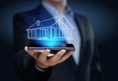 Концепция покупки ренты ипотеки недвижимости управления свойства стоковая фотография