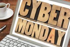 Концепция покупок понедельника кибер Стоковое Изображение RF