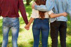 Концепция полигамии прелюбодеяния ревности влюбленности приятельства Стоковое Фото