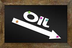 Концепция понижаясь цен на нефть Стоковые Фото