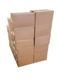 Концепция поставки картонной коробки Стоковое Изображение