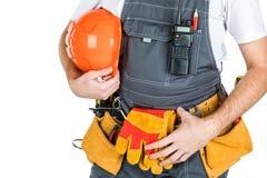 Концепция построителя, построителя, торговца или работника физического труда Isol Стоковые Фото
