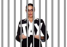 Концепция последствий уклонения от налогов Стоковые Фото