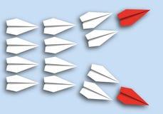 Концепция 2 потоков мысли которая разделяет в 2 следовать их руководителями соответственно иллюстрация штока