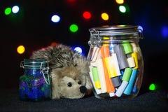 Концепция подарка рождества Памятки с желаниями рождества Стоковые Фотографии RF