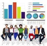 Концепция поддержки сыгранности идей стратегии людей этничности вскользь Стоковые Изображения