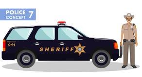 Концепция полицейския Стоковое Изображение RF