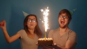 Концепция праздника и дня рождения r сток-видео