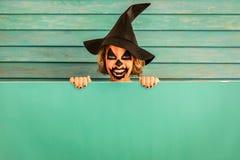 Концепция праздника осени тыквы хеллоуина Стоковые Изображения