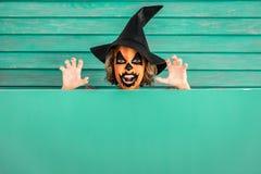 Концепция праздника осени тыквы хеллоуина Стоковая Фотография