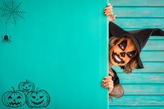 Концепция праздника осени тыквы хеллоуина Стоковые Изображения RF