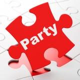 Концепция праздника: Партия на предпосылке головоломки Стоковые Изображения RF