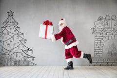 Концепция праздника Xmas рождества Санта Клауса Стоковые Изображения