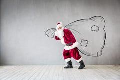 Концепция праздника Xmas рождества Санта Клауса Стоковое Изображение