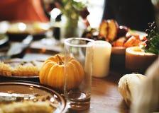 Концепция праздника благодарения торжества десерта пирога тыквы Стоковые Изображения RF
