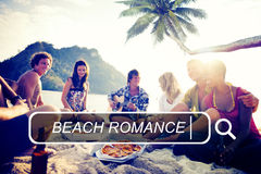 Концепция праздника летних каникулов отдыха пляжа Romance Стоковые Фотографии RF