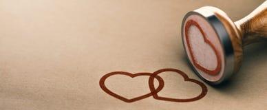 Концепция предпосылки влюбленности, день валентинок или карточка события свадьбы Стоковые Фотографии RF