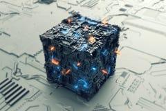 Концепция предпосылки энергии будущая Стоковые Фото