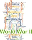 Концепция предпосылки Второй Мировой Войны Стоковое Изображение RF