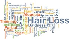 Концепция предпосылки выпадения волос Стоковое фото RF