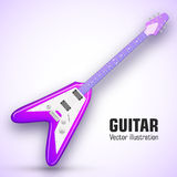 Концепция предпосылки гитары также вектор иллюстрации притяжки corel Стоковое Изображение RF