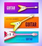 Концепция предпосылки гитары также вектор иллюстрации притяжки corel Стоковое Фото