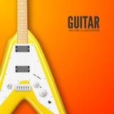Концепция предпосылки гитары также вектор иллюстрации притяжки corel Стоковые Фотографии RF
