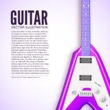Концепция предпосылки гитары также вектор иллюстрации притяжки corel Стоковая Фотография