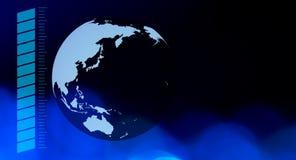 Концепция предпосылки глобального бизнеса футуристическая Стоковое Фото