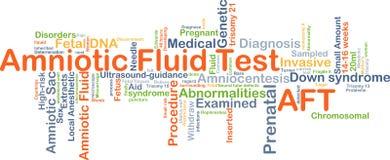 Концепция предпосылки испытания амниотической жидкости КОРМОВАЯ Стоковая Фотография RF