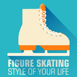 Концепция предпосылки плоского спорта катаясь на коньках вектор Стоковые Изображения RF