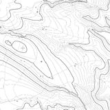 Концепция предпосылки топографической карты с космосом для вашего экземпляра Линии контур топографии искусства, тропа горы Стоковое Фото