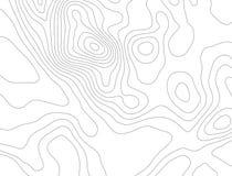 Концепция предпосылки топографической карты с космосом для вашего экземпляра Линии контур топографии искусства, тропа горы Стоковые Фото