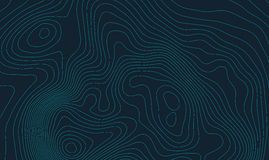 Концепция предпосылки топографической карты с космосом для вашего экземпляра Линии контур топографии искусства, тропа горы Стоковая Фотография