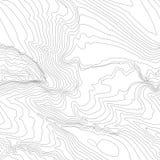 Концепция предпосылки топографической карты с космосом для вашего экземпляра Линии контур топографии искусства, тропа горы Стоковые Изображения