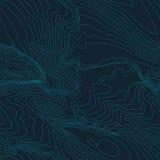 Концепция предпосылки топографической карты с космосом для вашего экземпляра Линии контур топографии искусства, тропа горы Стоковые Изображения RF