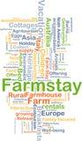 Концепция предпосылки Farmstay Стоковая Фотография RF