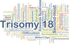 Концепция предпосылки Trisomy 18 Стоковое фото RF