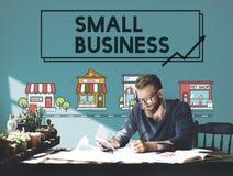 Концепция предприятия маркетинга стратегии мелкого бизнеса стоковая фотография