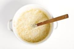 Концепция приготовления пищи. Сырцовое тесто стоковые фотографии rf