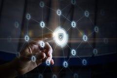 Концепция принцип системы безопасности стоковые фото