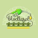 Концепция природной энергии биодизеля вектор Стоковое Изображение