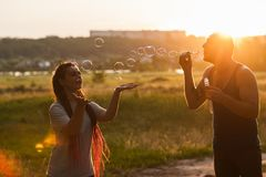 Концепция природы hiker пузыря пар дуя Стоковые Фото