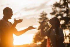 Концепция природы hiker пузыря пар дуя Стоковое Фото