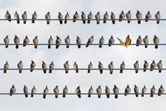 Концепция пришельца индивидуальности бесплатная иллюстрация
