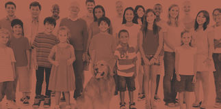 Концепция приятельства этничности людей общины изменения Стоковые Изображения