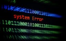 Концепция программного обеспечения ошибки проблемы компьютерной сети стоковая фотография rf