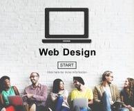 Концепция программного обеспечения плана интернета домашней страницы веб-дизайна Стоковое Изображение RF