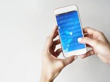 Концепция программного обеспечения технологии чисел бинарного кода Стоковое фото RF