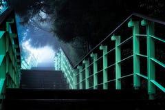 Концепция прогрессирования лестницы к неизвестному стоковые фотографии rf